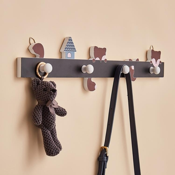 北歐ins風玄關鑰匙掛架掛鉤入戶門口創意可愛墻上壁掛臥室掛衣鉤 NMS美眉新品
