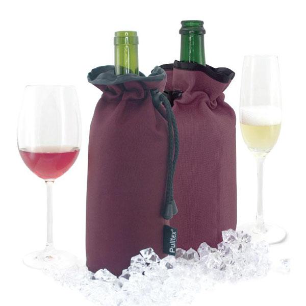 【西班牙Pulltex普德斯】葡萄酒束口保冷袋 / 酒紅色