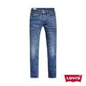 Levis 男款 514低腰合身直筒牛仔褲 / 中藍刷白 / 重磅赤耳 / 彈性布料