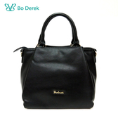 【BO DEREK】真皮優雅層次感2way手提包-黑