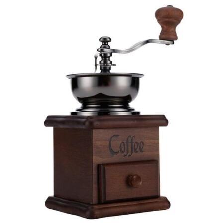 【現貨快出】復古手搖磨豆機 手磨咖啡機 手動咖啡豆研磨機 經典家用磨粉機 茱莉亞