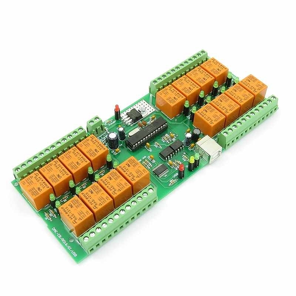 Denkovi USB 16 Channel 自動化繼電器板 12VDC Relay Board for Automation [2美國直購]