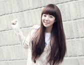 【WAK】 流行女生時尚髮型蓬鬆 仿真 可愛長直髮自然逼真齊瀏海假髮 韓版
