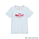 【GIORDANO】女裝ON印花T恤 - 33 民謠藍