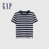 Gap男幼童 布萊納系列 純棉條紋圓領短袖T恤 669933-海軍藍條紋