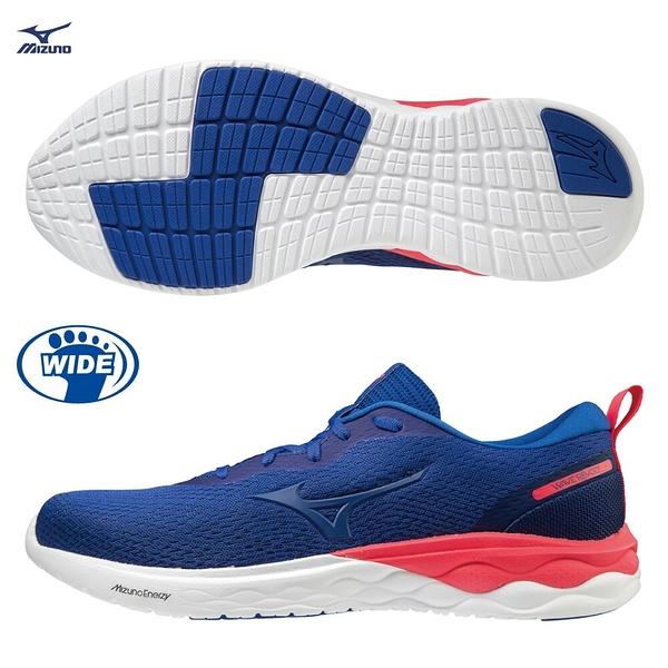 MIZUNO WAVE REVOLT 男鞋 慢跑 寬楦 柔軟 回彈 藍【運動世界】J1GC208571