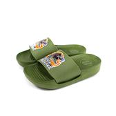 恐龍鞋 拖鞋 戶外 軍綠色 中童 童鞋 A204712-450 no055