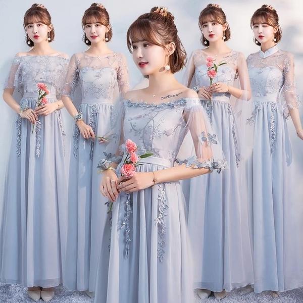 伴娘服中式新款春季姐妹團大碼禮服女仙氣學生小禮服
