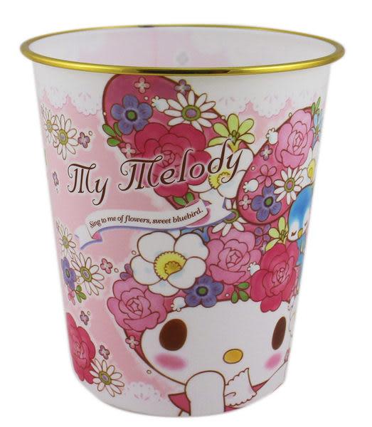 【卡漫城】美樂蒂 垃圾桶 粉 ㊣版 日本限定 三麗鷗 Melody 適用辦公室 房間 垃圾筒 紙筒