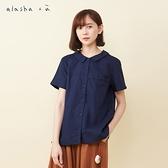 a la sha+a 氣質圓點繡花短袖襯衫