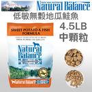 [寵樂子]《Natural Balance 天然寵物食糧》低敏無穀地瓜鮭魚配方 - 4.5磅 / 全犬配方