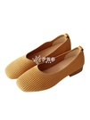 低跟鞋 新款一腳蹬低跟淺口懶人單鞋女方頭豆豆鞋百搭針織奶奶鞋