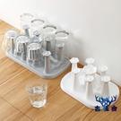 茶杯收納架杯架塑料家用玻璃杯置物架水杯掛架瀝水架【古怪舍】
