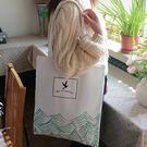 帆布包-開口拉鍊的-簡約原創波點側背帆布包手提包-LIVE08青山款