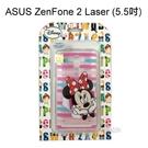 迪士尼透明軟殼 [條紋] 米妮 ASUS ZenFone 2 Laser ZE550KL (5.5吋)【Disney正版授權】