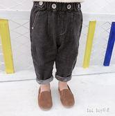 男童牛仔褲冬裝褲子韓版休閒褲寶寶加絨加厚牛仔褲兒童保暖長褲潮 QG15256『Bad boy時尚』