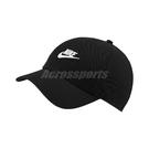 Nike 帽子 NSW Heritage86 Futura Washed 黑 白 男女款 後扣調整 老帽 棒球帽 【ACS】 913011-010