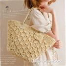 草編包包草包藤編包編織包沙灘包新款女包側背簡約花朵小清新 黛尼時尚精品