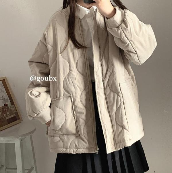 2020年秋冬季新款爆款韓版寬鬆百搭菱格棉衣外套女港風棉服上衣潮 童趣潮品