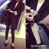 春秋季新款韓版時尚氣質百搭雙排扣中長款長袖休閒小西裝外套女潮     時尚教主