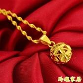 鍍金項鍊 24k不掉色沙金項鍊泰國光面轉運珠子越南金【快速出貨】