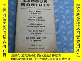 二手書博民逛書店LABOUR罕見MONTHLY APRIL 1961Y26008