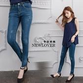 貼身纖腿窄管褲NEWLOVER牛仔時尚【166-6986】韓版貼身極細纖腿感窄管褲-S-XL