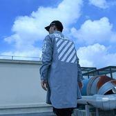 長袖襯衫-長版歐美印花個性帥氣男上衣2色73iq56[時尚巴黎]