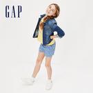 Gap 女童 時尚水洗紐扣牛仔外套 368828-牛仔色