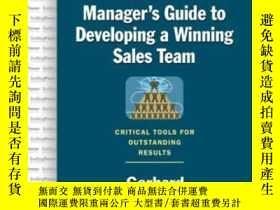 二手書博民逛書店The罕見Sales Manager s Guide To Developing A Winning Sales