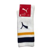 Puma 白黃色 襪子 中筒襪 男女款 腳踝襪 運動長襪 棉質 襪子 BB109204