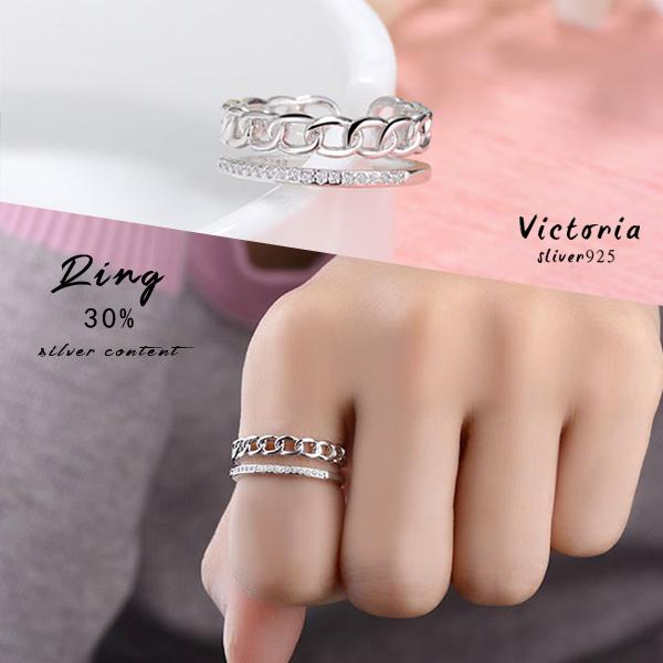 S925銀高雅大方設計感 戒指-維多利亞170237
