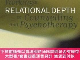 二手書博民逛書店Working罕見At Relational Depth In Counselling And Psycho
