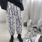【春季上新】INS studios. 韓國INS同款古文復古漢字印花闊腿長褲 18ss男女款