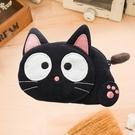 Kiro貓‧ 小黑貓造型 拉鍊小物收納包...