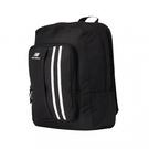NEW BALANCE 後背包 雙肩 拼接 方袋設計 復古 輕量 黑【運動世界】LAB01023BK