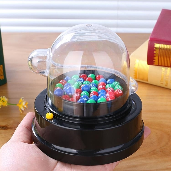 抽獎機 雙色球搖獎機電動選號器彩票機抽獎機六合彩大樂透模擬器幸運轉盤 夢藝