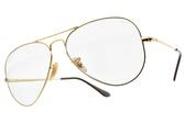 RayBan太陽眼鏡 RB3689 001T3 (金-淺青鏡片) 潮經典雙槓飛行款 EVOLVE鏡片# 金橘眼鏡