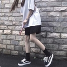 2021年夏季黑色五分休閒運動短褲女韓版寬鬆百搭外穿高腰寬管褲潮 【端午節特惠】