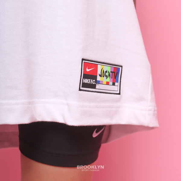 NIKE 運動短袖 短T F.C. 白 刺繡LOGO 彩標 足球 休閒 男 (布魯克林) CZ1010-100