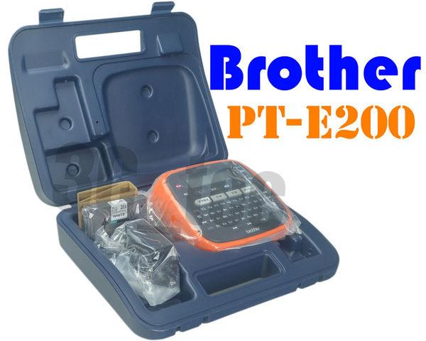 [ 標籤機 兄弟牌 Brother PT-E200 PT E200] 標籤機【附變壓器‧贈9mm標籤帶‧贈收納盒】 中文面版公司貨