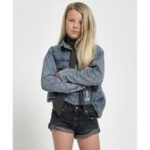 OneTeaspoon 童裝 牛仔短褲- BANDITS KIDS DENIM SHORT-黑(女)