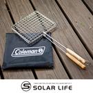 Coleman 網狀烤盤CM-37304.雙合烤網 兩面烤肉架 烤魚網夾 露營BBQ燒烤 木柄雙合烤肉網