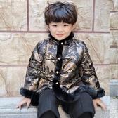 兒童拜年服 寶寶男冬中國風新年喜慶加厚棉衣唐裝漢服男童過年衣服 快速出貨