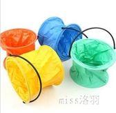 大號折疊式彩色洗筆塑膠學生伸縮桶 JL1773『miss洛雨』