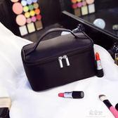 便攜化妝包小號韓國簡約手提大容量旅行化妝品收納包化妝袋洗漱包    易家樂