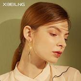 耳釘金屬質感耳飾歐美優雅氣質耳環女