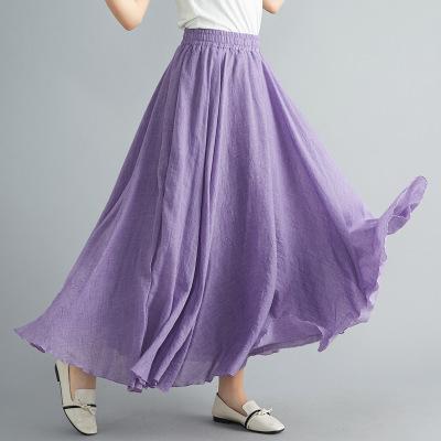 長裙 亞麻棉裙14色 超大裙擺長裙85-95CM‧復古‧衣閣