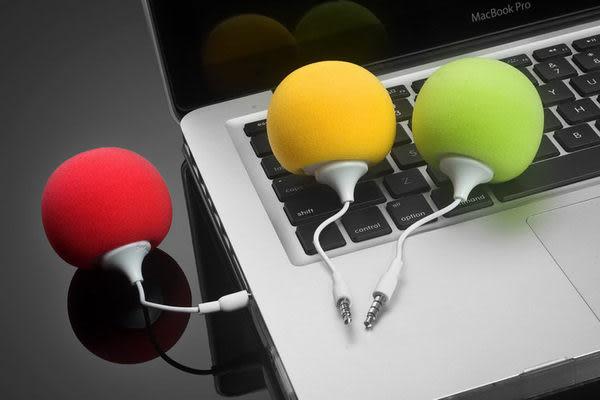 【強尼 3c】蘋果汽球小音響 3.5mm介面 手機迷你小音箱 iphone4s低音炮特價熱賣