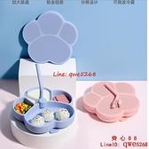 餐盤吸盤一體式分格盤嬰兒童硅膠吸管碗吃飯餐具輔食碗勺套裝【齊心88】